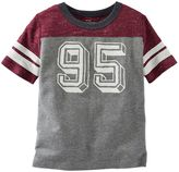 Osh Kosh Toddler Boy Short Sleeve Number Graphic Speckled Colorblock Tee