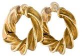 Tiffany & Co. 18K Twisted Hoop Earrings