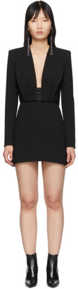 Saint Laurent Black Backless Short Dress