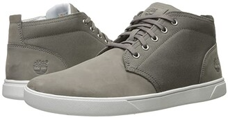 Timberland Groveton Leather and Fabric Chukka (Medium Grey Nubuck) Men's Shoes