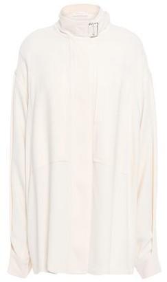 Victoria Beckham Buckle-detailed Cady Shirt