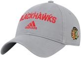 adidas Men's Gray Chicago Blackhawks Team Callout Adjustable Hat