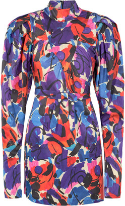 Rotate by Birger Christensen Ida Printed Crepe Mini Dress
