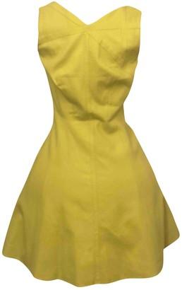 Karen Millen Yellow Cotton - elasthane Dress for Women