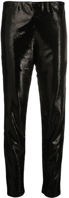 P.A.R.O.S.H. Sequined Tapered-Leg Trousers