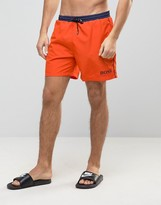 HUGO BOSS BOSS By Star Fish Swim Short In Orange