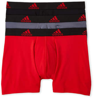 adidas 3-Pack Athletic Fit Performance Boxer Briefs