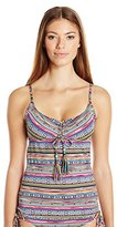 Lucky Brand Women's Arabian Night Tankini with Removable Cups