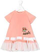 Fendi ruffled T-shirt dress - kids - Polyamide/Polyester/Spandex/Elastane - 6-9 mth