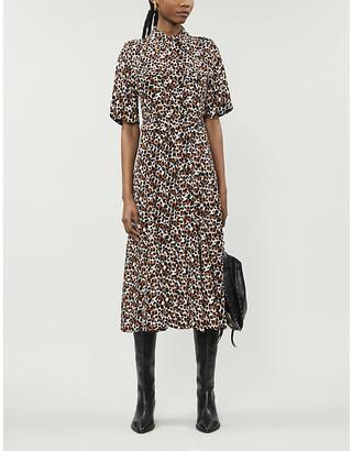 LES COYOTES DE PARIS Josan leopard-print crepe midi dress
