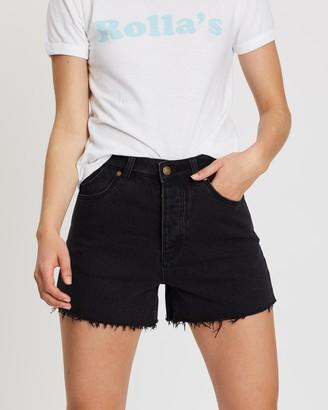 ROLLA'S Women's Black Denim - Original Shorts - Size 24 at The Iconic