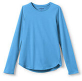 Classic Girls Aline Solid Knit Tee-Soft Azure