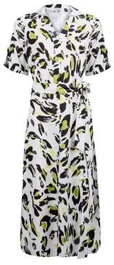 Dorothy Perkins Womens **Lily & Franc Multi Colour Leopard Print Shirt Dress, Multi Colour