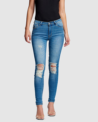 RES Denim Women's Blue Skinny - Kitty Skinny Jeans - Size One Size, 25 at The Iconic