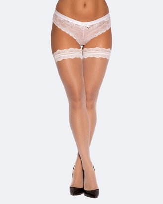 Bras N Things Lace Top Stay Up Stockings