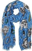 Kenzo Royal Blue Cotton Blend Icon Wrap