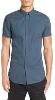 Zanerobe 'Seven Ft - Perf' Longline Dot Print Woven Shirt