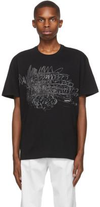 Valentino Black Colosseum Sketch T-Shirt