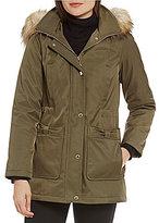 Kate Spade Detachable Faux Fur Hood Parka