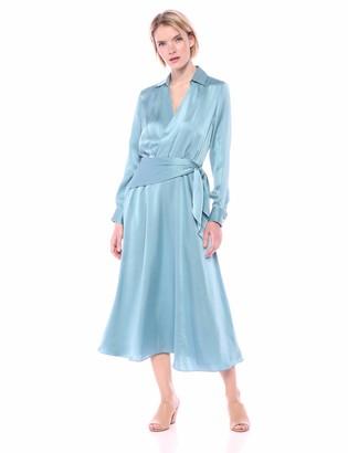 Equipment Women's Vivienne Bleu Fume Silk Dress 4