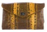Bottega Veneta Karung Intrecciato-Trimmed Clutch