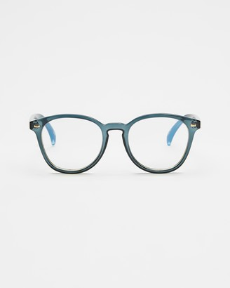 Le Specs Green Blue Light Lenses - Bandwagon Blue Light Glasses - Size One Size at The Iconic