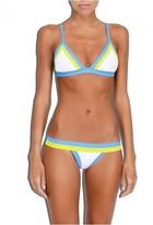 Milly Cabana Amalfi Colorblock Triangle Bikini Top