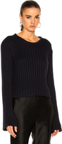 Ryan Roche Cropped Ribbed Sweater