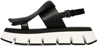 Marni 40mm Fringed Leather Sandals