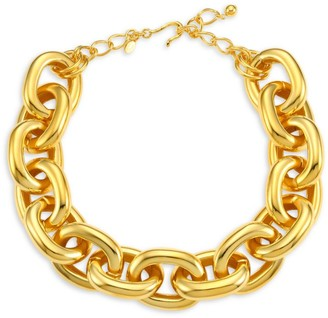 Kenneth Jay Lane Polished Link Necklace