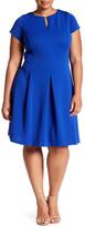 Sandra Darren Shirred Fit & Flare Dress (Plus Size)