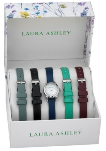 Laura Ashley Women's Multi Polyurethane Watch Interchangeable Straps 28mm