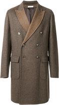Boglioli two tone double breasted coat