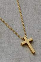 Gold-Plated Crucifix Necklace - gold at Urban Outfitters