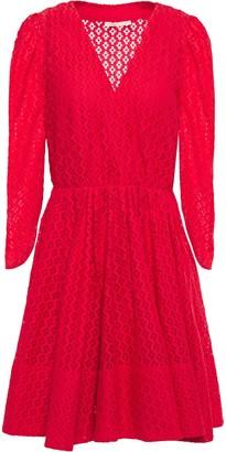 Maje Flared Lace Mini Dress
