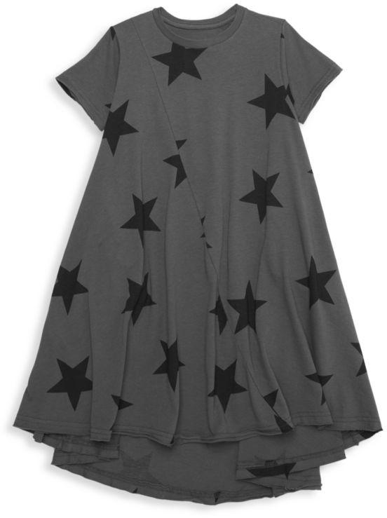 Nununu Little Girl's & Girl's Star-Print Dress