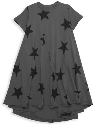 Nununu Little Girl's & Girl's Star-Print Dress