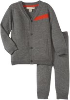 Appaman Cardigan Pant Set (Baby) - Light Grey Heather-18-24 Months