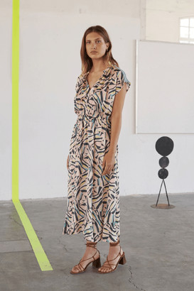 Sita Murt Printed Midi Dress - 14