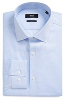BOSS Men's Issak Slim Fit Check Dress Shirt