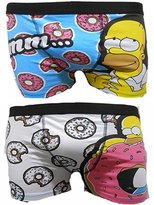 The Simpsons Mens Homer Simpson Fun Novelty Two Pack Trunks Underwear (M)
