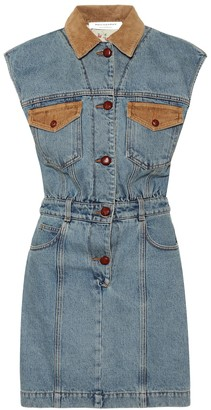 Philosophy di Lorenzo Serafini Cotton-denim minidress