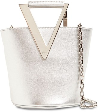 Roger Vivier Metallic Leather Bucket Bag