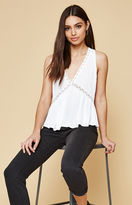KENDALL + KYLIE Kendall & Kylie Crochet V-Neck Tank Top