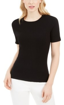 Calvin Klein X-Fit Ribbed Knit Top