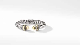 David Yurman Cable Classic Collection Bracelet With Bonded Yellow