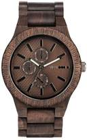 WeWood Men's Kos Multifunctional Wood Bracelet Watch, 46Mm