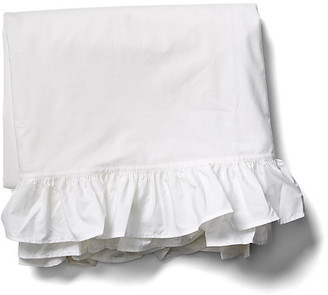 Liliput Ruffle Flat Sheet - White - Rachel Ashwell - twin