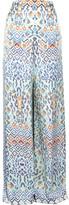 Temperley London Printed silk-satin pants
