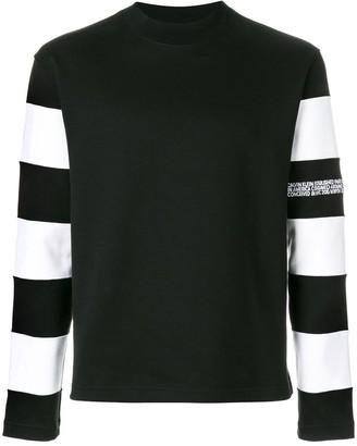Calvin Klein Striped Sleeve Sweatshirt